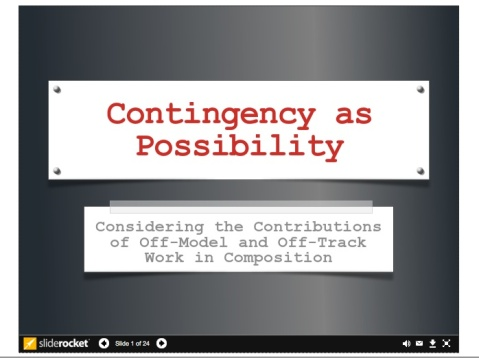 Contingency as Possibility Slideshow