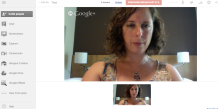 third screenshot of G+ hangout set up