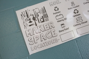 Photos from JH Rose High School Maker Spaces shot Monday, May 2, 2016 in Greenville, NC for the National Writing Project. Photo by JASON E. MICZEK - www.miczekphoto.com